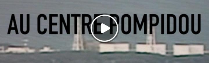 """""""The performativity of place"""" Centre Pompidou, Paris"""